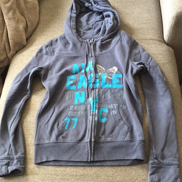 American eagle zip up sweater size small